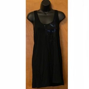 Silence + Noise Black Tank Dress w/Ribbon Design